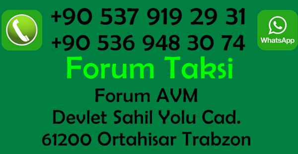 Forum-Taksi-Trabzon-İletişim